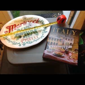 Italy serving platter NWT And travel recipe book
